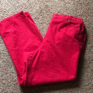 Bright red Ruby Rd. Jeans